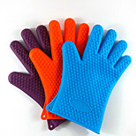 142G Thick Silicone Insulated Gloves Microwave Oven Gloves The New Glove Fingers 5Pcs