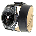 Double Ring Watch Strap Leather Watch Watchband for Samsung Gear S2