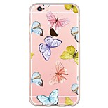 Butterfly Pattern TPU Soft Ultra-thin Back Cover Case Cover For Apple iPhone 6 Plus / iPhone 6s/6 / iPhone SE/5s/5