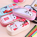 Korean Version Of The Leather Waterproof White Pencil Multilayer High-Capacity Pencil Pouch Bags Student Stationery
