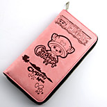 One Piece Tony Tony Chopper Pink  PU Leather Bag Long Purse