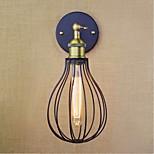 e27 40w 220v-240v einköpfige schwarzen amerikanischen Stil retro minimalistisch neue dekorative Wandleuchte