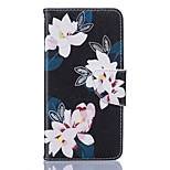 Black Lily Pattern Card Phone Holster for LG K7/K8/K10