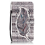 PU Leather Material 3D Painting Tribal Feather Pattern Phone Case for LG K5/K7/LS775