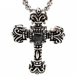 Vintage 316L Titanium Casting Cross Pendant Necklace