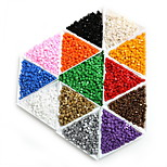 Beadia 25g(Approx 300Pcs) 3x3mm Square Glass Seed Beads Spacer Loose Beads
