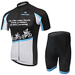 KEIYUEM Bike/Cycling Jersey + Shorts / Clothing Sets/Suits Unisex Short SleeveWaterproof / Breathable / Quick Dry / Rain-Proof /