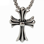 Retro Cross Titanium Necklace Pendant