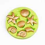 conchas do mar da praia do verão tomada de chocolate argila do polímero ferramentas cupcake decoração silicone fondant molde Sugarcraft