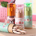 Korean Cute Mini Bear 12 Small Colored Pencil