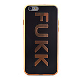 arrière Placage / Extra-Fin Other TPU Doux Plating Couverture de cas pour Apple iPhone 6s/6
