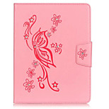 PU Leather Material Butterflies Embossed Rhinestone Tablet Case for iPad 4/3/2