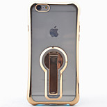 Bracket Can Be Rotated 360 ° Phone Drop Resistance Shell Plating TPU Soft Case For iPhone SE/5S/5/6/6S/6 Plus/6S Plus