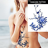 5Pcs  Waterproof Temporary Tattoo Sticker Blue Colored Tree Branch Body Arm Art for Women Tattoo