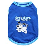 Gatti / Cani T-shirt Blu Estate Fantasia animale Di tendenza, Dog Clothes / Dog Clothing-Other