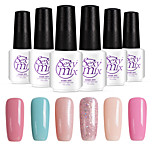 6PCS Sexymix Nail Polish Sets 7ml UV Gel Shining Color Varnish Soak off Long Lasting NO.3