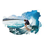 3D Wall Stickers Wall Decals Style Surfing PVC Wall Stickers