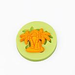 tomada de chocolate praia do verão queque palmeira decoração de silicone ferramentas fondant molde Sugarcraft argila do polímero