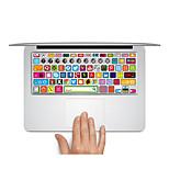 1 pieza Anti-Arañazos De Plástico Transparente Adhesivo Mate / Dibujos Animados / Ultra Delgado ParaMacBook Pro de 15 '' con Retina /
