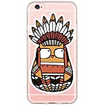Indian Owl Pattern Soft Ultra-thin TPU  Back Cover For iPhone 6 Plus/6s/6/5s/5
