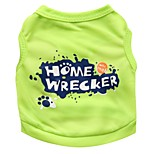 Gatti / Cani T-shirt Verde Estate Lettere & Numeri Di tendenza, Dog Clothes / Dog Clothing-DroolingDog
