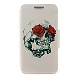 Kinston® Rose & Skull Design Pattern PU Leather Full Body Cover with Stand for iPhone SE/5/5s/6/6s/6 Plus/6s Plus