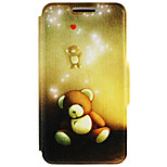 SZKINSTON® the Bear Doll Pattern Full Body PU Cover with Stand for Huawei P9/P9 Plus/P9 Lite/G9 and Huawei Honor 4X/3C