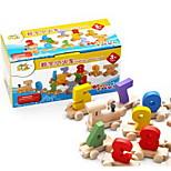 JF13 legno giocattoli educativi 0-9 intellettuale giocattoli educativi per bambini giocattoli digitali trenino per bambini