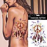 5Pcs Waterproof Dreamcatcher Tattoo Peace Bird Feather  Indian Dream Catcher Women Body Art Temporary Tattoo Sticker