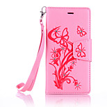 PU Leather Material Butterfly Pattern The Drill Phone Case for  LG K10/K7/K5/G5