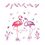 Romantic Love Cartoon Flamingo Wall Stickers Decals Removable
