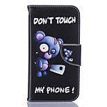 Blue Bear Pattern Card Phone Holster for Moto G4/G4 Plus