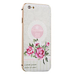 Peony Pattern Metal Frame PC painted  Hard Case for iPhone6/6s/6 Plus/6s Plus
