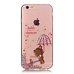 TPU High Purity Translucent Openwork Bear Pattern Soft Phone Case for iPhone 5/5S/ SE/6/6S/6 Plus/6S Plus