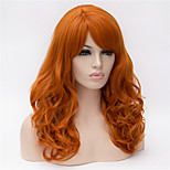Europe And The United States 22 Inch Long Curly Wig Orange Big Hair