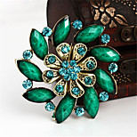 Vintage Fashion Flower Rhinestone Brooches For Women