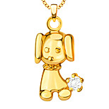 small Dog Pendant 18K Gold Plated Fashion lovely animal JEWELRY Women Gift Necklaces & Pendants P30153