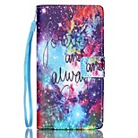 EFORCASE® Star Forever Painted Lanyard PU Phone Case for Huawei P8lite