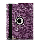 360 Degree Rotating Grape Grain Pattern Smart Cover Stand Flip PU Leather Cover Case For Ipad 5/Air