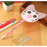 Korean Models Stationery Cute Cat Fan Gel Pen Creative Cute Student Prizes