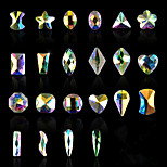New 5pcs Oval Shaped Flat AB Rhinestone Shiny Diamond Nail Art Decorations DIY Beauty Nail Jewelry