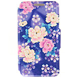Kinston® Color Floral Leaf Diamond Paste Pattern PU Leather Full Cover with Stand for iPhone SE/5/5s/6/6s/6 Plus/6s Plus
