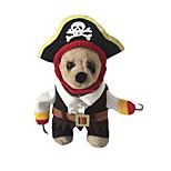Katzen / Hunde Kostüme Rot / Schwarz / Weiss Winter / Frühling/Herbst Totenkopf Motiv / Halloween Halloween-Other, Dog Clothes / Dog