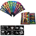 Halloween 12Pcs/Box  Indian Henna Tattoo Paste ConeS Body Art temporary Fake Finger Tattoo  About 30G