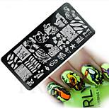 1pcs  New Nail Art Stamping Plates Colorful Lovely Animal ImageTemplates Tools Nail Beauty XY-J16
