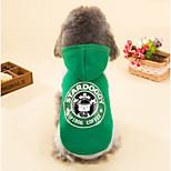 Perros Saco y Capucha Verde Invierno Un Color Vacaciones