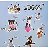 The New World Of Pet Dog Pet Hospital Beauty Shop Window Stickers Decorative Glass Door Stickers