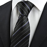 KissTies Men's Dotted Striped Classic Glossy Tie Necktie Wedding Holiday Business With Gift Box (4 Colors Available)