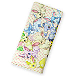 Inspired By Pocket Little Monster 8 Eevees Long 19cm PU Leather Wallet