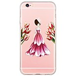 Sexy Lady Pattern TPU Soft Ultra-thin Back Cover Case Cover For Apple iPhone  6 Plus / iPhone 6s/6 / iPhone 5s/5